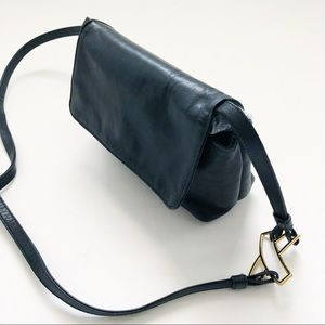 Vintage Paloma Picasso Black Leather Crossbody Bag